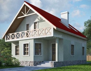 Дом 13.4 м × 9.2 м c двускатной крышей
