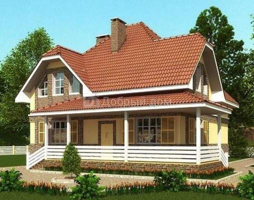 Дом 11.2 м × 10.2 м c мансардной крышей