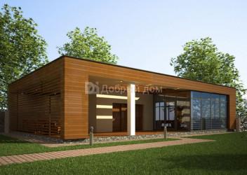 Дом 16.5 м × 11 м c плоской крышей