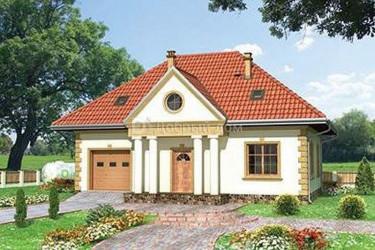 Дом 12.2 м × 9.8 м c четырехскатной крышей