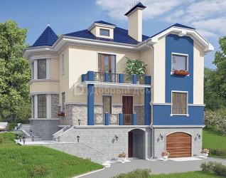 Дом 14 м × 13.2 м c мансардной крышей