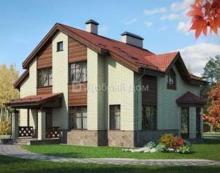 Дом 15.2 м × 12 м c двускатной крышей