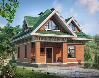 Дом 10 м × 9.2 м c четырехскатной крышей