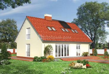 Дом 12 м × 8.4 м c двускатной крышей
