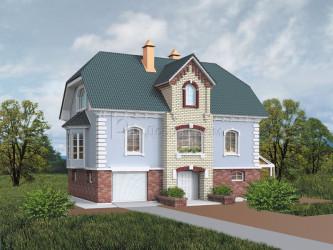 Дом 13 м × 8.9 м c мансардной крышей