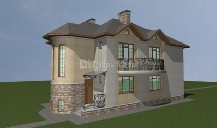 Дом 15 м × 6.6 м c четырехскатной крышей