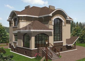 Дом 16 м × 14.07 м c мансардной крышей