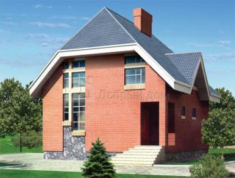 Дом 9.9 м × 8.4 м c мансардной крышей