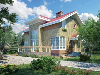 Дом 11.6 м × 7.2 м c двускатной крышей