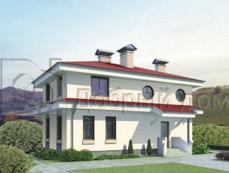 Дом 11.3 м × 8.4 м c четырехскатной крышей