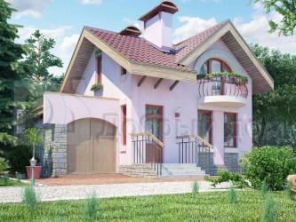 Дом 10 м × 8.4 м c двускатной крышей