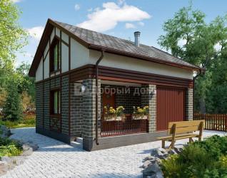 Дом 6.9 м × 6.8 м c двускатной, мансардной крышей