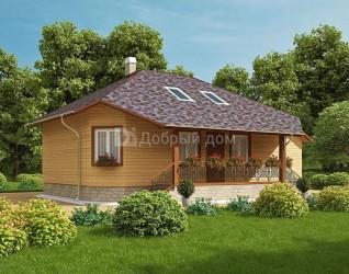 Дом 13.3 м × 9 м c четырехскатной крышей