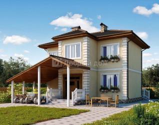 Дом 9.9 м × 6 м c четырехскатной крышей