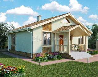 Дом 11.6 м × 9.2 м c двускатной крышей