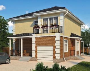 Дом 10.5 м × 10 м c четырехскатной крышей