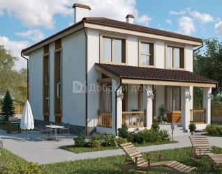 Дом 11.4 м × 9.2 м c четырехскатной крышей