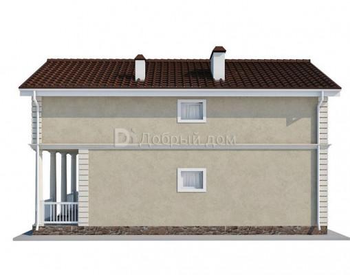 Дом 11.5 м × 6.3 м c двускатной крышей