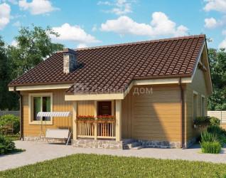 Дом 9.9 м × 8.6 м c двускатной крышей