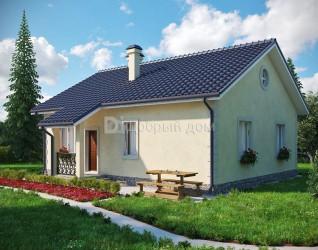 Дом 10.3 м × 8.2 м c двускатной крышей