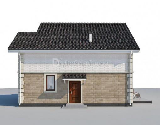 Дом 9.9 м × 9.8 м c двускатной, мансардной крышей