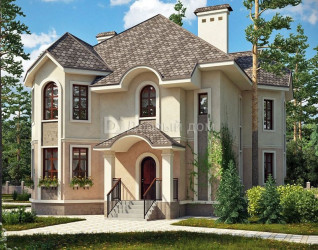 Дом 16.9 м × 12.7 м c мансардной крышей