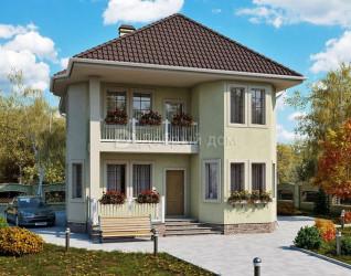 Дом 11.5 м × 9.2 м c четырехскатной крышей