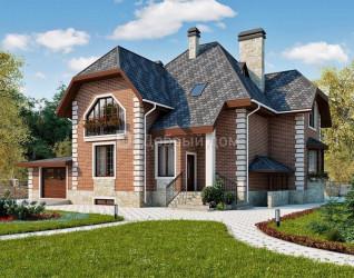 Дом 15 м × 14.7 м c мансардной крышей