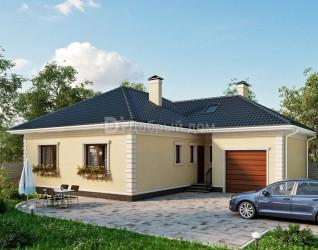 Дом 15.6 м × 13.9 м c четырехскатной крышей