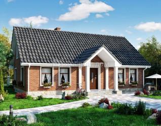 Дом 15 м × 11.5 м c двускатной крышей