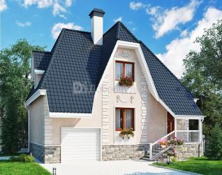 Дом 10 м × 7 м c мансардной крышей