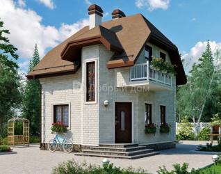 Дом 6 м × 6 м c мансардной крышей