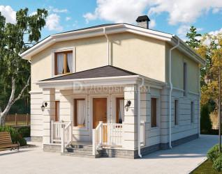 Дом 12 м × 9 м c четырехскатной крышей