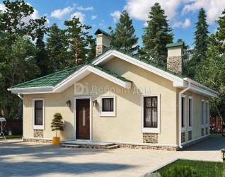 Дом 11.4 м × 10.6 м c четырехскатной крышей