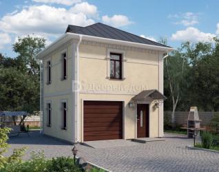 Дом 6 м × 6 м c четырехскатной крышей