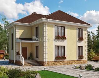 Дом 11.6 м × 8.8 м c четырехскатной крышей