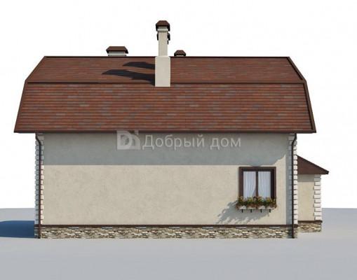Дом 11.7 м × 9.6 м c мансардной крышей