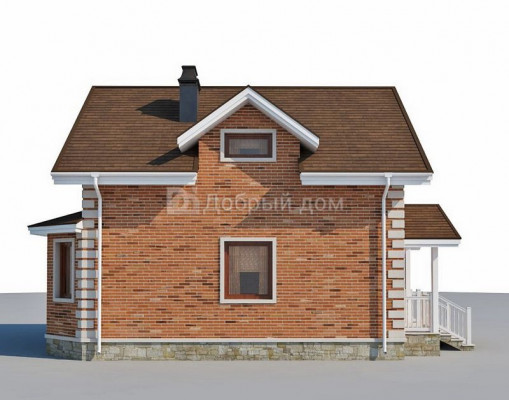 Дом 9.4 м × 7.6 м c двускатной крышей