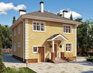 Дом 10.3 м × 8.8 м c четырехскатной крышей