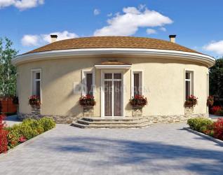 Дом 15 м × 15 м c плоской крышей