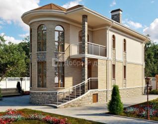 Дом 16.6 м × 6.8 м c четырехскатной крышей