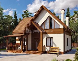 Дом 11.6 м × 8.1 м c двускатной крышей