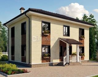 Дом 11.7 м × 8.2 м c четырехскатной крышей