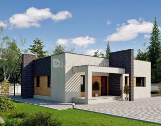 Дом 12 м × 12 м c плоской крышей