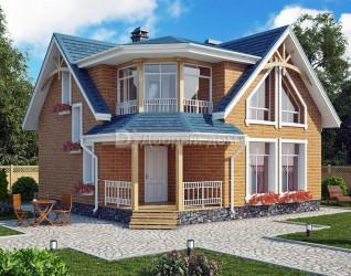 Дом 8.6 м × 8.6 м c мансардной крышей