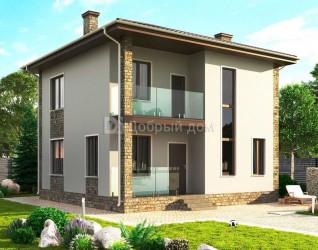 Дом 9 м × 9 м c четырехскатной крышей