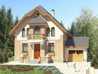 Дом 13.2 м × 12.2 м c мансардной крышей