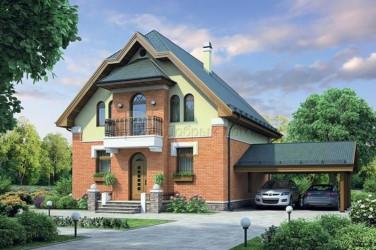 Дом 11.8 м × 8.4 м c мансардной крышей