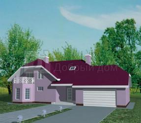 Дом 19.2 м × 9.5 м c мансардной крышей