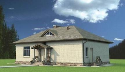 Дом 14.8 м × 9.16 м c четырехскатной крышей